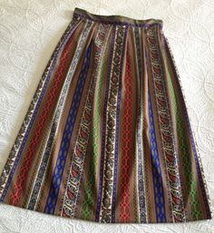 Vintage Paisley Skirt Size Small 26 inch waist by BarbeeVintage, $18.00