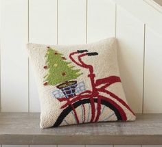 Red Bicycle Pillow (VivaTerra) $79