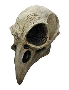 Crow Skull Adult Latex Mask Stay away from this bird! Full over-the-head, adult latex large beak crow skull mask. Individually hand painted for the most rea Crow Skull, Skull Mask, Bird Skull, Deer Skulls, Horse Skull, Wolf Skull, Skull Head, Maske Halloween, Halloween Skull