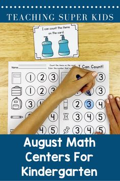 Math Centers for Kindergarten Skills covered in this set: Teaching The Alphabet, Kindergarten Activities, Learning Activities, Preschool Ideas, Teaching Ideas, Teacher Created Resources, Math Resources, Reading Centers, Literacy Centers