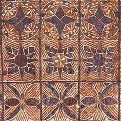 Samoan painted and beaten bark cloth