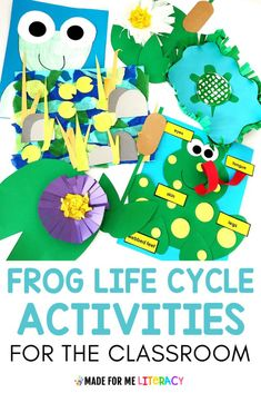 Do you cover the frog life cycles in your lesson plans for the Spring? Check out these fun anchor charts, crafts, picture books, and reading and math activities you can incorporate into your preschool, kindergarten, 1st grade, 2nd grade, or special education classroom to teach them all about frogs, other spring animals, and pond life. This unit also comes with TONS of no prep printable you can use. Your students will love all the hands on fun! #springlearning #lifecyclelessons