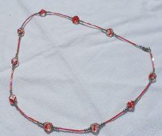 Orange Bugel bead Necklace by HillsideCreations on Etsy, $8.00