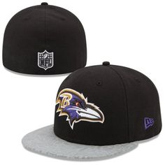 0314000c176 New Era Black Baltimore Ravens 2014 NFL Draft 59FIFTY Reflective Fitted Hat   NFLDraft Baltimore Ravens