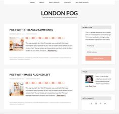 London Fog is a responsive, gray WordPress theme for the Genesis framework.