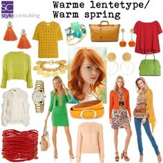 """"""" By Margriet Roorda-Faber, Style Consulting. Bright Spring, Warm Spring, Warm Autumn, Spring Color Palette, Spring Colors, Hourglass Figure Fashion, Color Type, Spring Fashion, Autumn Fashion"""