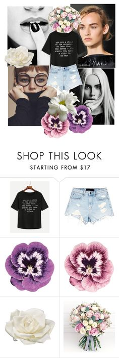 """""""Untitled #28"""" by mexarchopoulou ❤ liked on Polyvore featuring WithChic, Alexander Wang, Nourison, Allstate Floral and Philippa Craddock"""