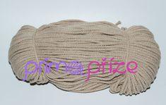PRIMA Šňůry 3,5mm/100m písková 100m, Crochet Hats, Knitting Hats
