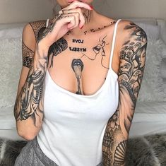 30 Most Popular Tattoos For Women of 2018 Piercing Tattoo, Ma Tattoo, Tattoo Blog, Sketch Tattoo, Dope Tattoos, Body Art Tattoos, Sleeve Tattoos, Female Tattoos, Tattoos Skull