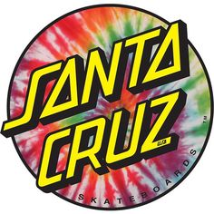 Santa Cruz Dot Tie Dye Skateboard Sticker - now available at Warehouse Skateboards! Surf Stickers, Tumblr Stickers, Phone Stickers, Cool Stickers, Printable Stickers, Santa Cruz Skateboards, Santa Cruz Stickers, Santa Cruz Logo, Skateboard Design