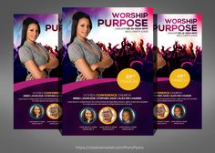 Women Conference Flyer Template  by @Graphicsauthor