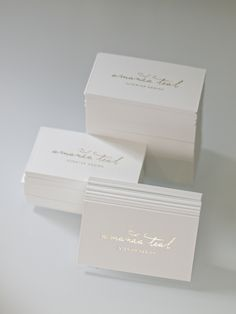 business card design for amanda teal by jessica comingore, letterpress printing & gold foil by presshaus la.