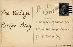 Vintage Recipe Blog