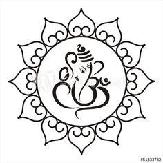 Arte Ganesha, Ganesha Rangoli, Ganesha Drawing, Lord Ganesha Paintings, Ganesh Tattoo, Wedding Symbols, Hindu Wedding Cards, Hindu Weddings, Elephant Tattoos