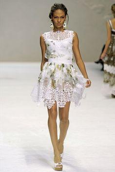 Dolce  Gabbana Spring 2011 | Milan Fashion Week - white lace