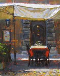 Jennifer McChristian (Canadian, 1986-) > Not Open 'til Dinner | Oil, 10 x 8