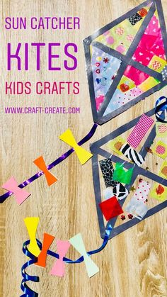 ideas summer camping crafts sun catcher for 2019 Kites For Kids, Summer Crafts For Kids, Art For Kids, Sun Crafts, Fall Crafts, Weather Crafts, Weather Activities, Kites Craft, Kanban Crafts