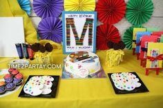 Art Themed Birthday Party | CatchMyParty.com