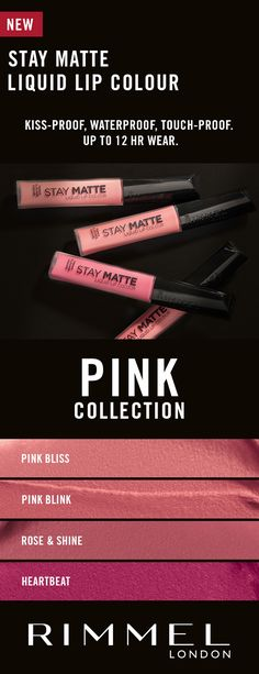 Find items related to 'Rimmel London Stay Matte Liquid Lip Colour with high' with Walmart Canada online shopping. My Beauty, Beauty Makeup, Hair Makeup, Kiss Proof, Matte Pink, Rimmel London, Lip Colour, Color, Eyeshadow