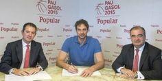 Pau Gasol renueva como embajador de Banco Popular hasta 2019