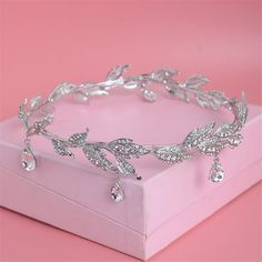 Crystal Crown Tiara Water Drop Leaf Headband Luxury Hair Accessory Good For Bridals Prom Princess Pageant Wedding - Hair Accessories Luxury Innovation Fashion for the Smart consumer Rhinestone Wedding, Crystal Rhinestone, Bridesmaid Headband, Crystal Crown, Crystal Headband, Crown Headband, Tiaras And Crowns, Wedding Hair Accessories, Hair Jewelry