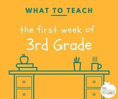 Not sure what to teach the first week of 3rd grade? Here's what we did!