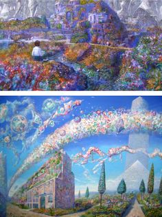 Naohisa Inoue - Iblard Jikan, imaginary world Planet Design, Environmental Art, Miyazaki, Studio Ghibli, Illustrators, Fantasy Art, City Photo, Cool Art, Anime