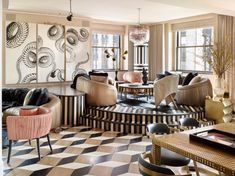 Maximalism Interior Design According To Kelly Wearstler Maximalism According To Kelly Wearstler – The Style Guide From LuxDeco Living Room Color Schemes, Living Room Trends, My Living Room, Living Room Designs, Colour Schemes, Living Area, Kelly Wearstler, Luxury Furniture, Furniture Design
