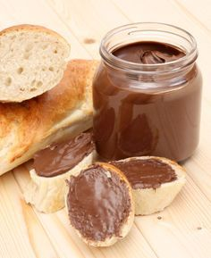 Learn how to prepare Homemade Chocolate Spread. Prepare jars for the storage of the liquid chocola. Greek Recipes, Real Food Recipes, Cooking Recipes, Chocolate Spread, Homemade Chocolate, Food To Make, Peanut Butter, Food Porn, Food And Drink