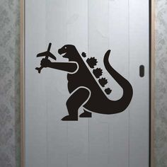 Godzilla Decal Sticker Wall airplane destroy child by BoopDecals, $24.00