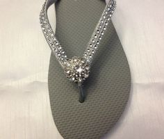 Gray Wedding Flip Flops Womens Grey  Bridal by A Priceless Princess Bridal, $29.95  Are you having an outdoor wedding, these flip flops are perfect for your bridal party.