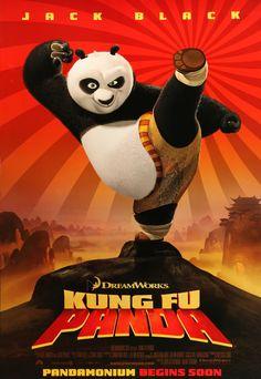 "Kung Fu Panda (2008) Vintage Advance Movie Poster - 27"" x 40"""