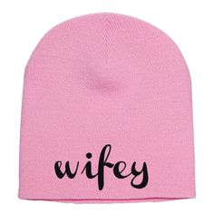 Wifey Embroidered Knit Beanie