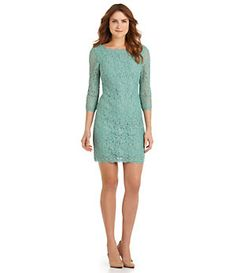 #82: NOT SURE ABOUT THE COLOR. Adrianna Papell Lace Sheath Dress | Dillard's Mobile