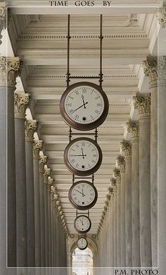 Hall of Clocks. Time goes by, as you pass by. kn
