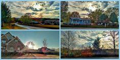 Photo Print Set Tennessee Homes November Neighborhood Autumn photography by FernwehFreya on Etsy