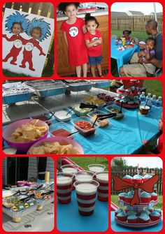 Dr. Seuss themed Birthday Party #drseuss