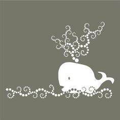 whale of a wall vinyl wall art decal by vinylfruit on Etsy, $28.00