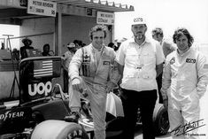Peter Revson, Don Nichols, JP Jarier 1974 uop Shadow