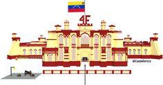 Fachada del Cuartel de la Montaña. También conocido como Cuartel de la Montaña 4 de Febrero o Cuartel de la Montaña 4F, Lugar desde donde se gestara la rebelión cívico-militar del 4 de febrero de 1992, génesis de la Revolución Bolivariana.