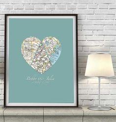 """3.5 x 5/"""" Wedding Anniversaries and Christmas Gifts for him Small Things Great Love Visible Voice Soundwave Art Print with Frame /""""I Love You/"""" Golden"""
