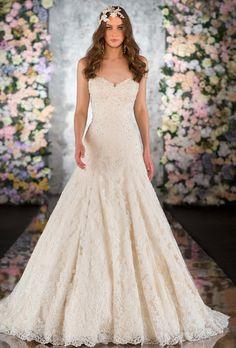 Martina Liana 516 - Lace Dropped Waist Ballgown - Available at Julian Gold Bridal