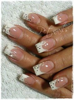 Simple. Possible Wedding Nail Design