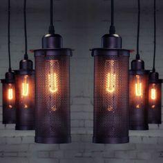 New Vintage Industrial DIY Ceiling Lamp Edison Light chandelier Pendant Lighting #Unbranded #Country