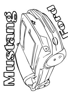 45 best mustang coloring pages images cars coloring pages 1977 Ford Mustang 25 best muscle car coloring pages for your toddler