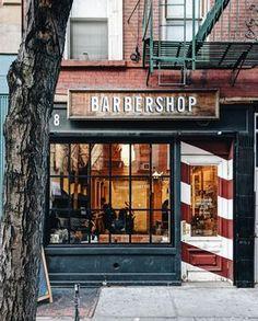 Barber shop new york barber shop interior, barber shop decor, salon inter. Barber Shop Interior, Barber Shop Decor, Hair Salon Interior, Barber Poster, Barber Logo, Spa Design, Salon Design, Cafe Design, Best Barber Shop