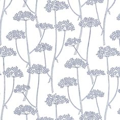'Anise' design. Depicts stems of cow parsley embroidered on linen. Visit website for more colors.