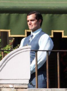 Henry Cavill Films 'The Man from U.N.C.L.E.' With Hugh Grant An Armie Hammer