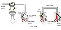 Wiring a 3-way switch and 4-way switch