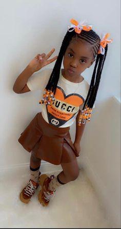 Black Baby Girls, Cute Black Babies, Cute Baby Girl, Cute Little Girls Outfits, Kids Outfits Girls, Toddler Outfits, Black Kids Braids Hairstyles, Baby Girl Hairstyles, Black Kids Fashion